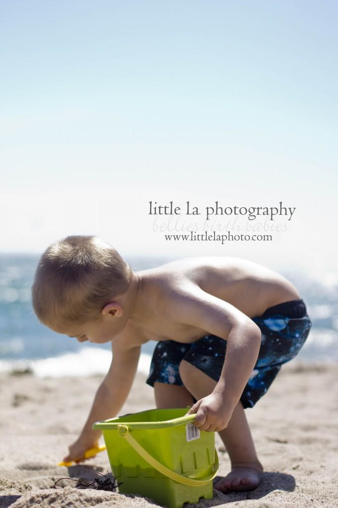kids at beach santa monica