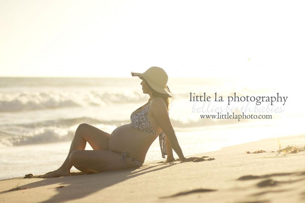 pregnant on the beach la