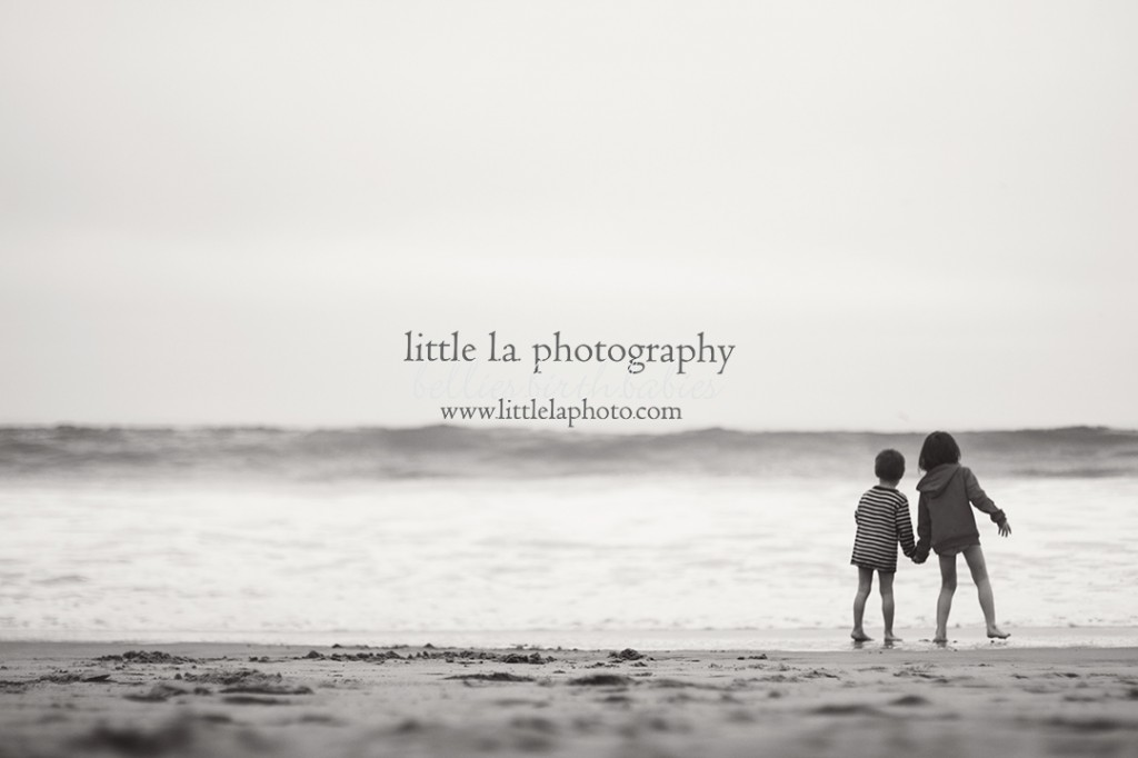 brother sister at beach photography