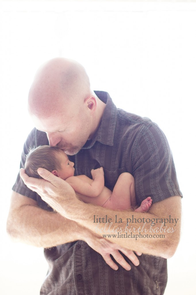 dad and baby newborn photography los angeles la