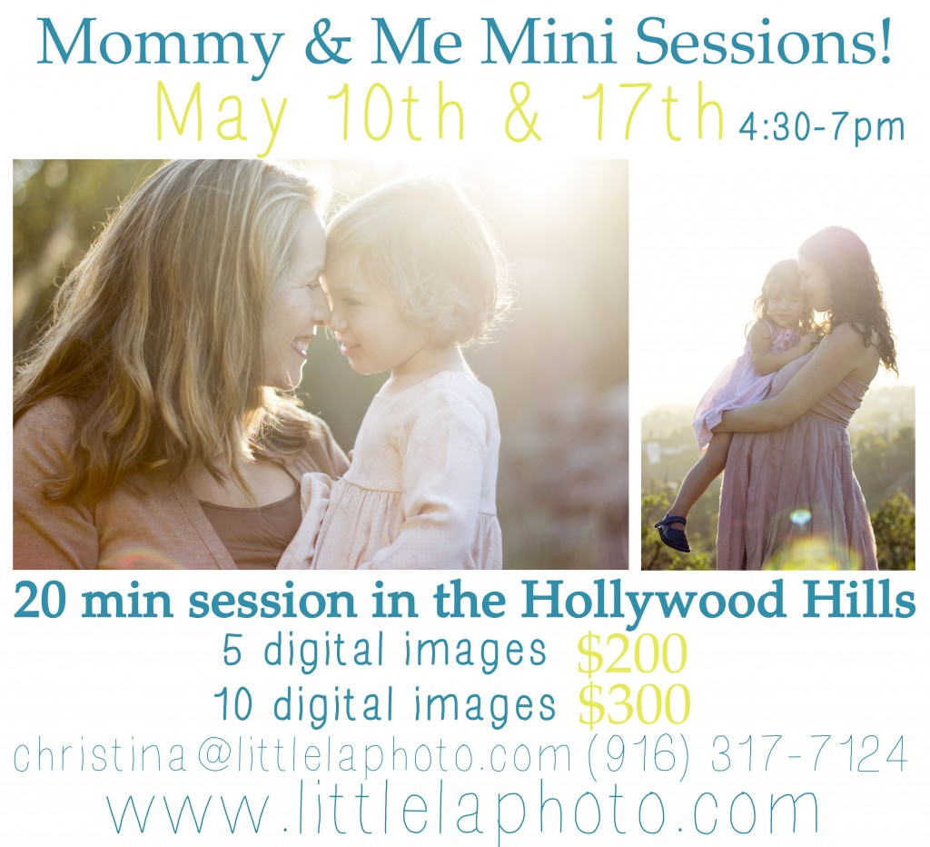 Mommy and me mini sessions los angeles