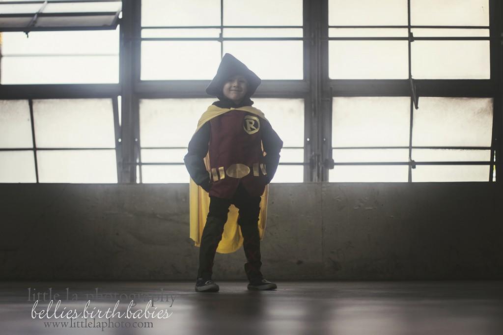 bat man and robin kids cosplay
