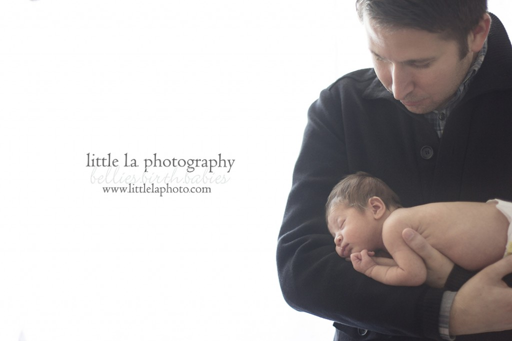 newborn with father beverly hills los angeles photography