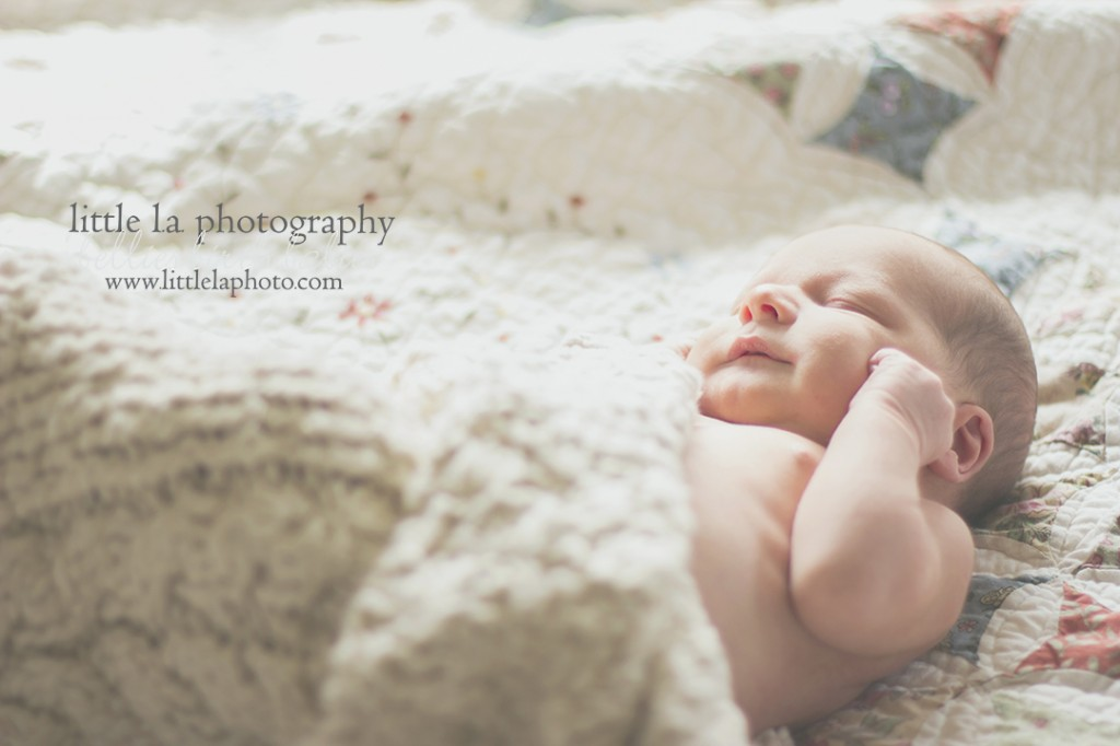sleeping newborn photography la