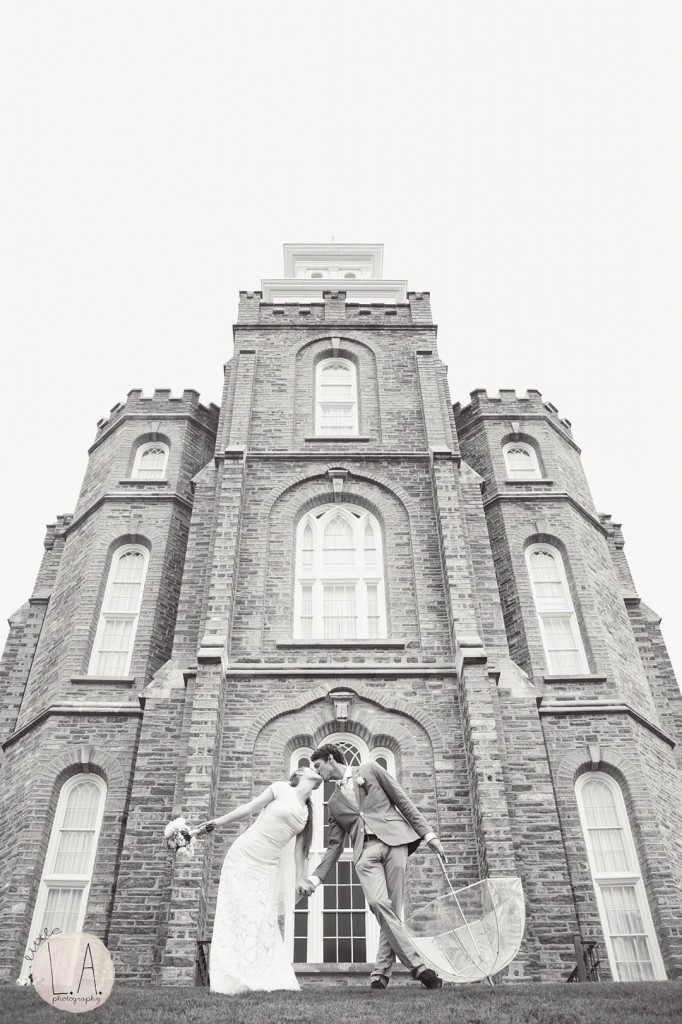Logan temple wedding photography