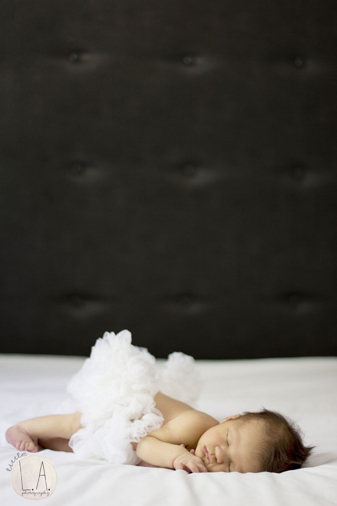 ballerina inspired newborn shoot