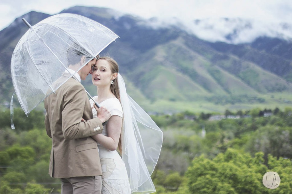 rain at your wedding photos los angeles photographer in utah