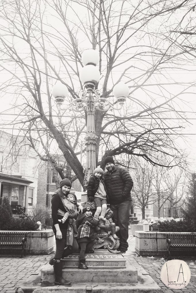 chicago family photographer black and white